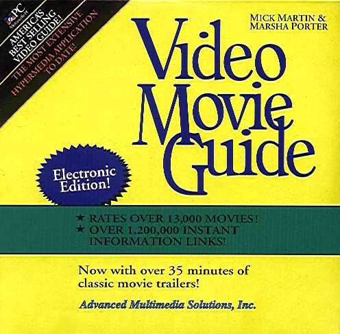 Packaging cover Video Movie Guide.