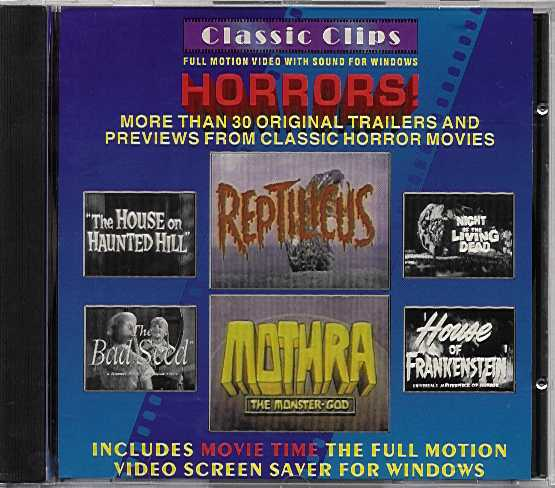 Packaging cover Classic Clips Horrors!.