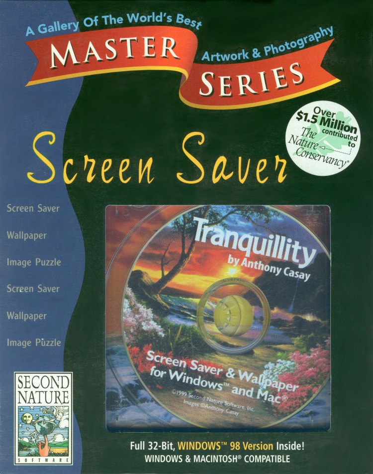 Packaging cover Master Series Screen Saver: Tranquillity.