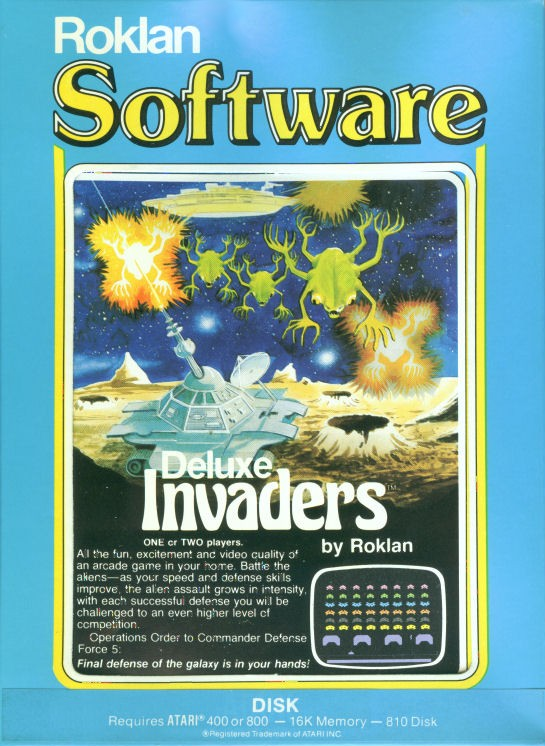 Packaging cover Deluxe Invaders.