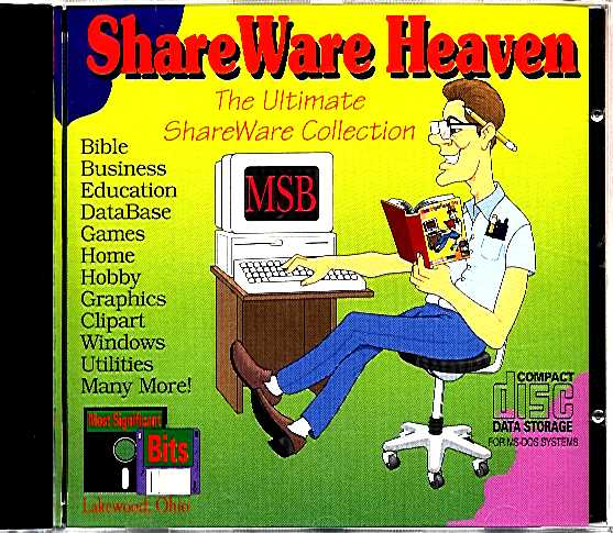 Packaging cover Shareware Heaven.