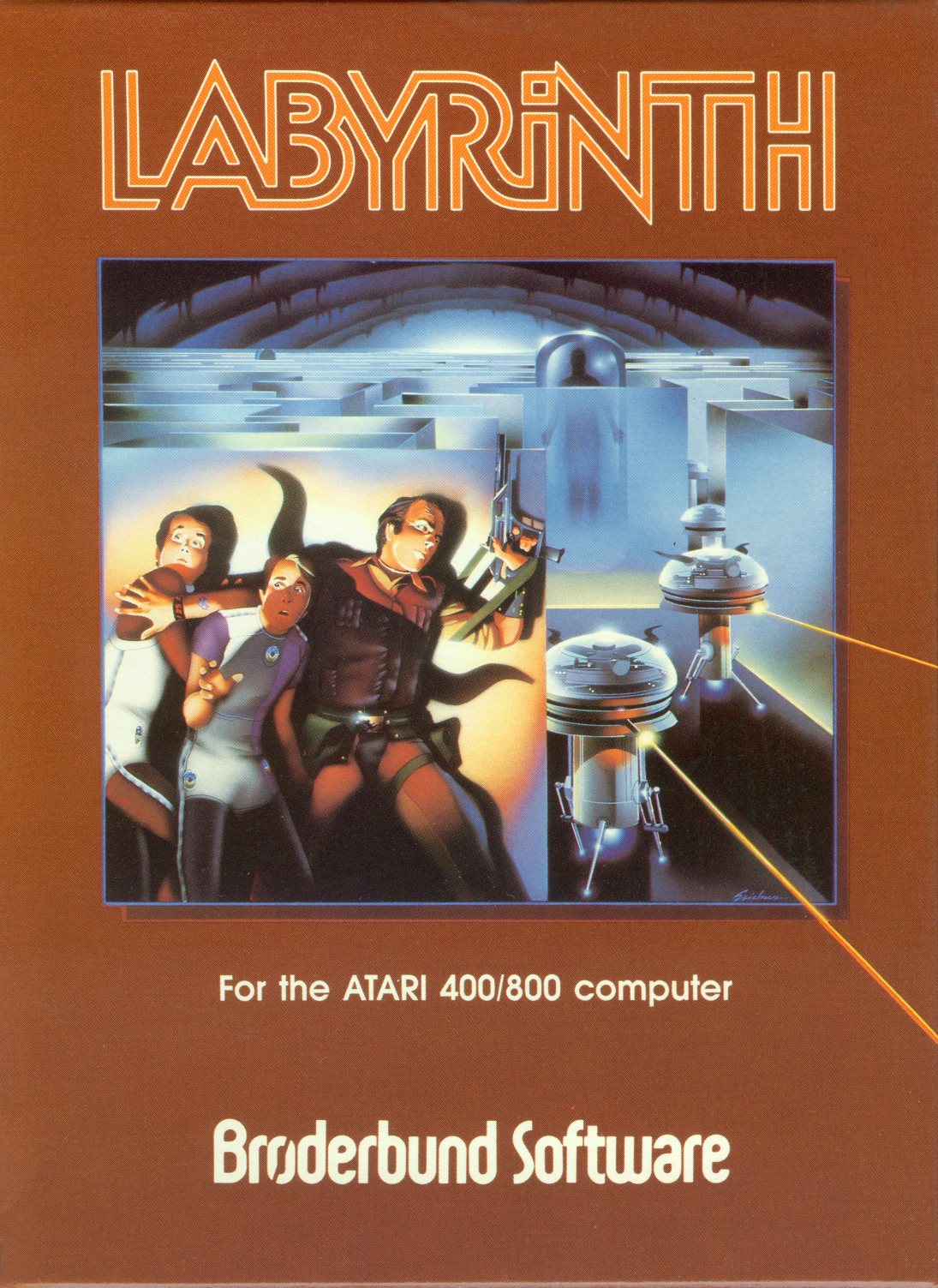 Packaging cover Labyrinth Atari 8-Bit.