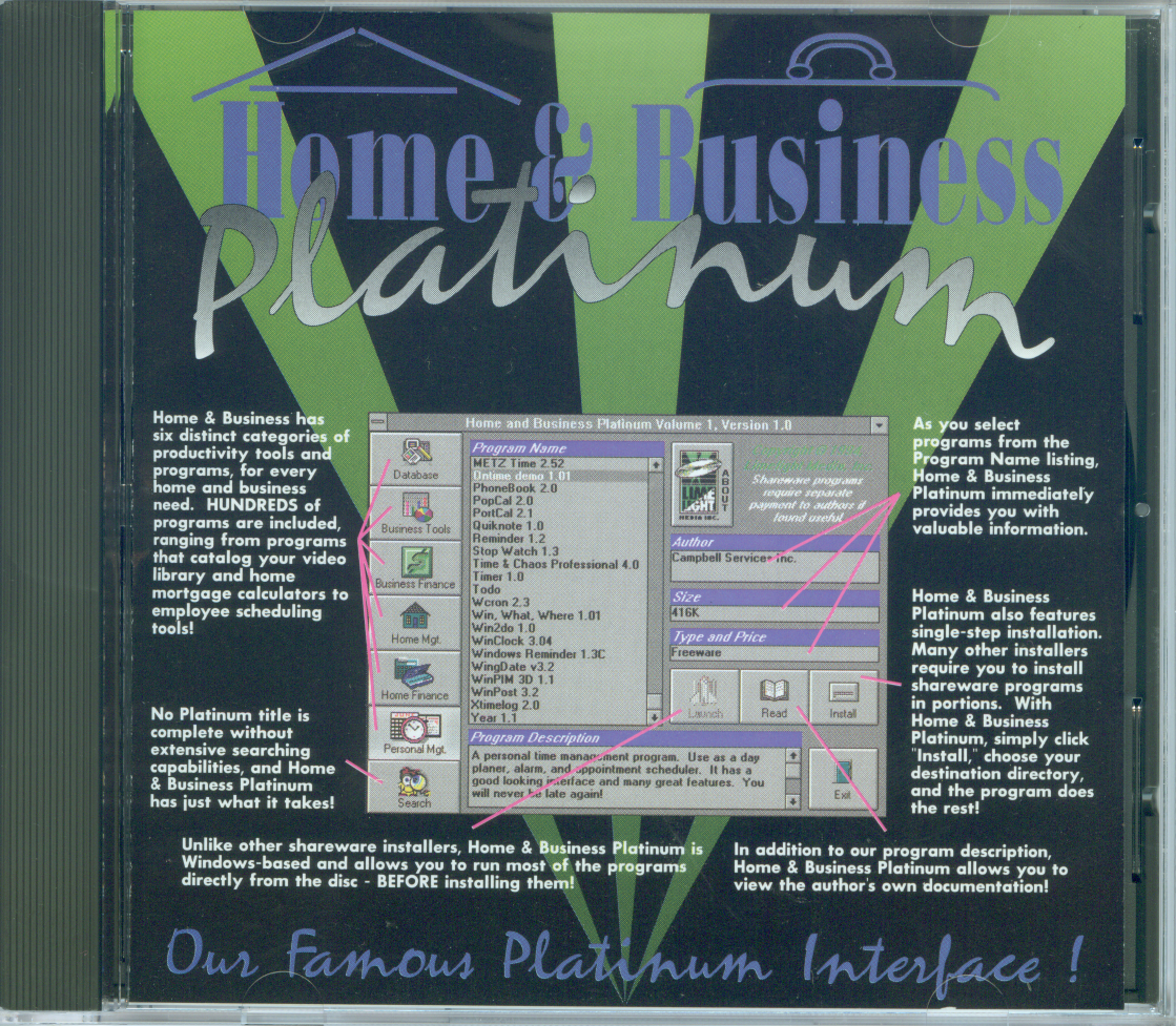 Packaging cover Home & Business Platinum.