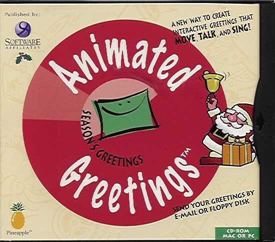 Packaging cover Animated Greetings Season's Greetings.