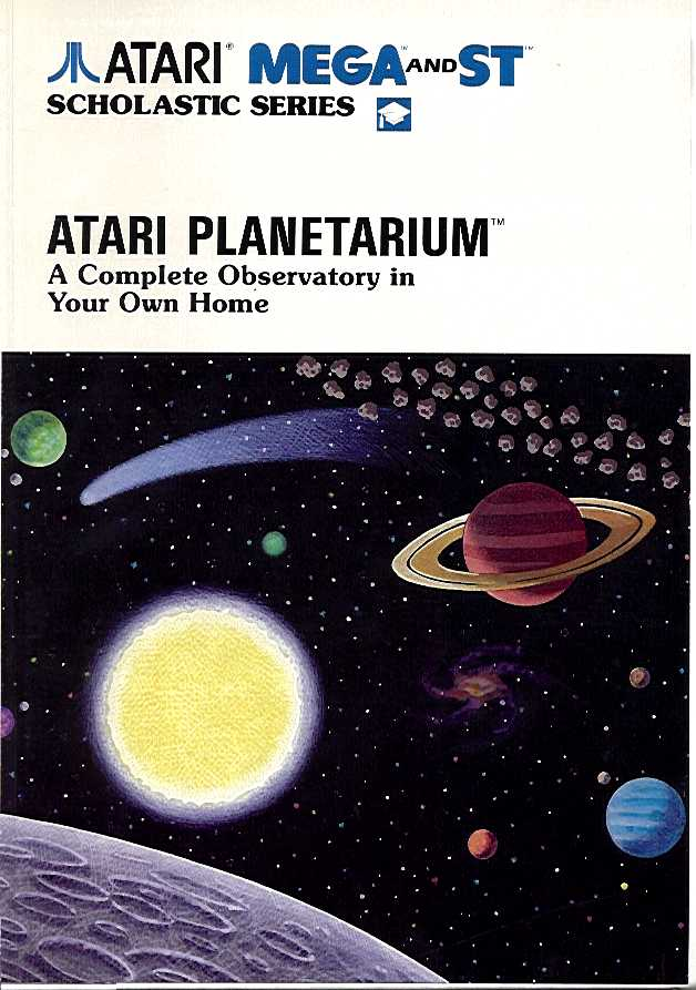 Packaging cover Atari Planetarium.