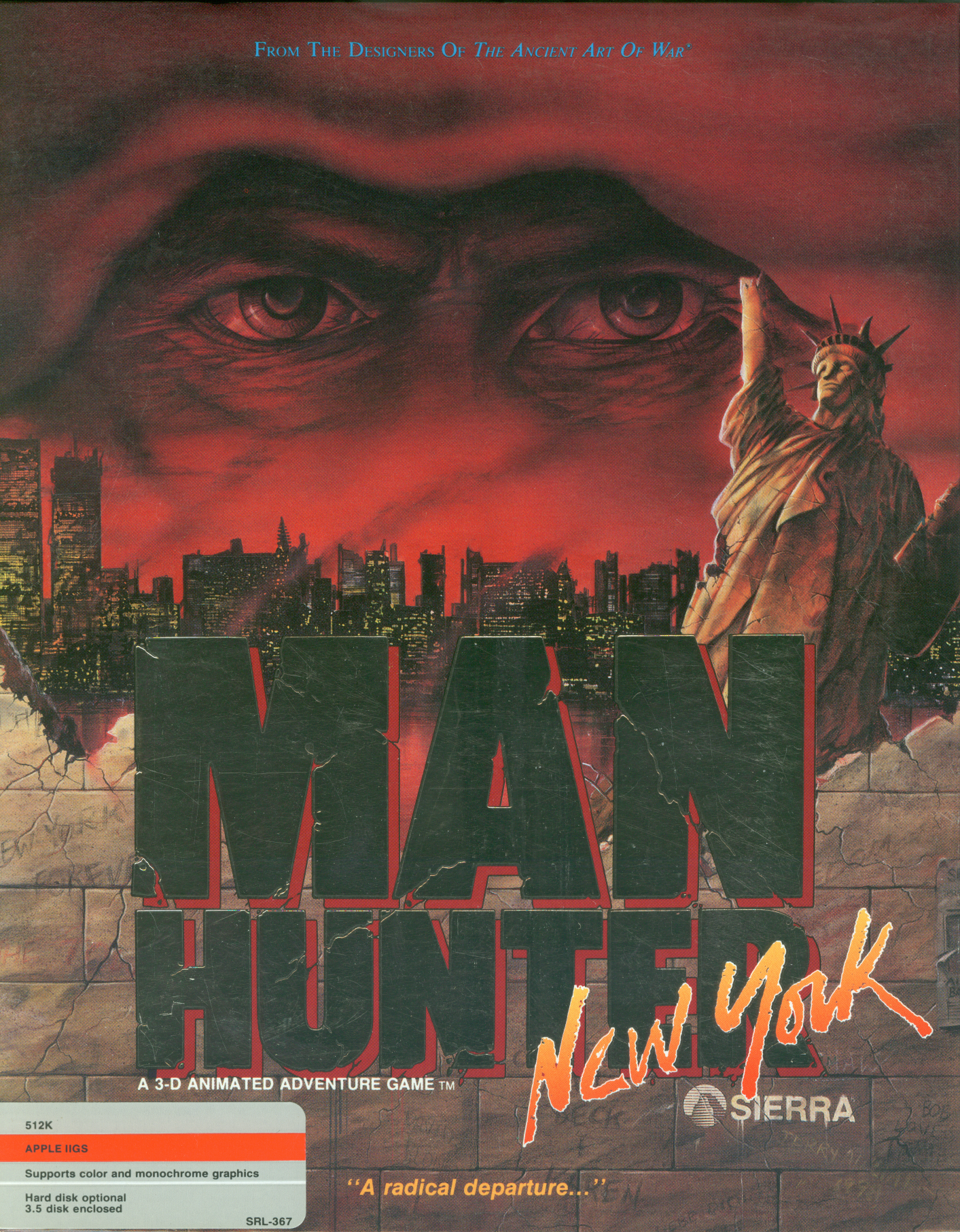 Retail Box cover Manhunter: New York.