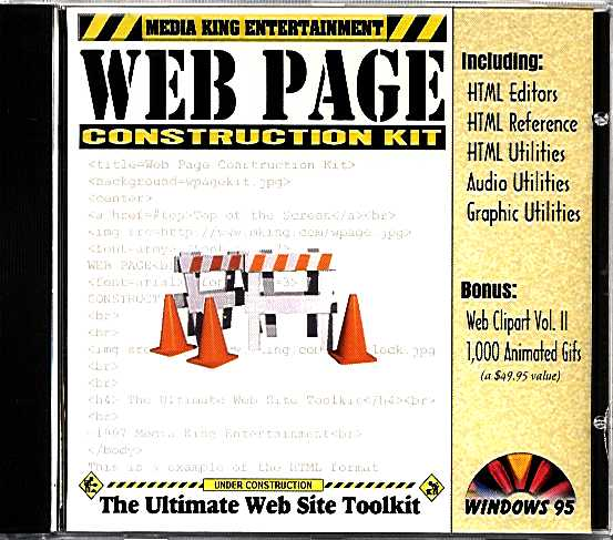 Packaging cover Web Page Construction Kit.