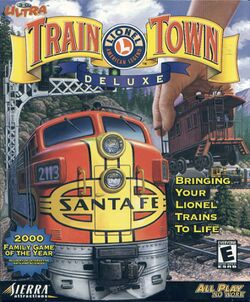 Packaging cover 3-D Ultra Lionel TrainTown Deluxe.