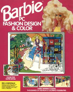 Packaging cover Barbie PC Fashion Design & Color.