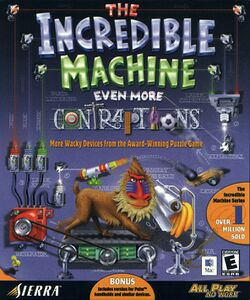 Packaging cover Incredible Machine Even More Contraptions.