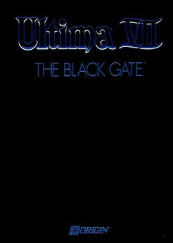 Packaging cover Ultima VII The Black Gate.