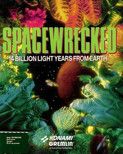 Packaging cover Spacewrecked.