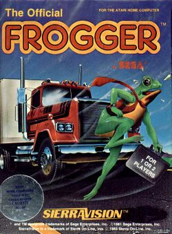Packaging cover Frogger.