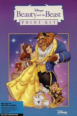 Packaging cover Beauty And The Beast Print Kit.