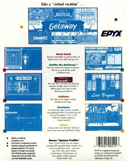 Retail Box back Getaway Laptop Entertainment 6-Pack.